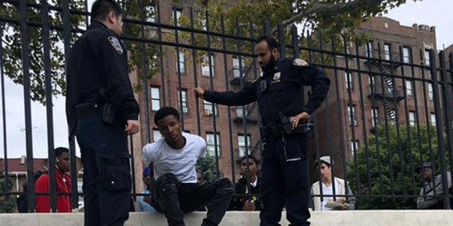 The unidentified teenager is arrested by New York City police after allegedly assaulting a Jewish man in an unprovoked attack.