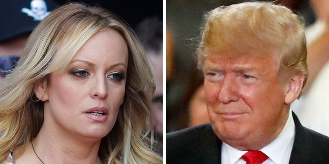 "A federal judge dismissed Stormy Daniels' defamation lawsuit against President Trump on Monday, saying the president made a ""hyperbolic statement"" against a political adversary when he tweeted about a composite sketch the adult film actress's lawyer released."