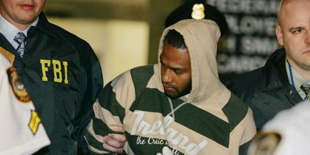 "One of the ""Newburgh Four"" David Williams after his arrest in 2009"