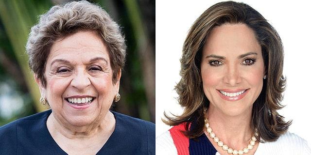 The race between Democrat Donna Shalala (left) and Republican Maria Elvira Salazar (right) is ranked a toss-up.