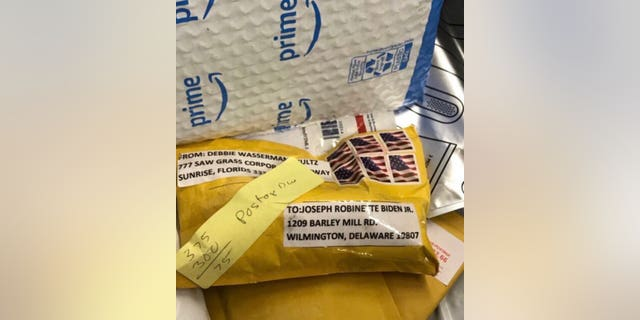 Delaware police discovered a package addressed to former Vice President Joe Biden that were similar to the ones sent to prominent Democrats on Wednesday.
