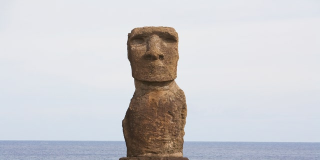 Moai At Hanga Kio'e, Rapa Nui (Easter Island), Chile