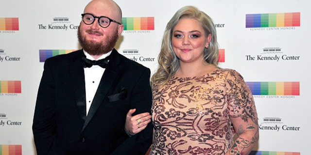 Elle King and ex-fiance Andrew Ferguson arrive for the formal Artist's Dinner honoring the recipients of the 39th Annual Kennedy Center Honors hosted by United States Secretary of State John F. Kerry at the U.S. Department of State in Washington, D.C. on Saturday, December 3, 2016. The 2016 honorees are: Argentine pianist Martha Argerich; rock band the Eagles; screen and stage actor Al Pacino; gospel and blues singer Mavis Staples; and musician James Taylor. (Photo by Ron Sachs - Pool via Getty Images)
