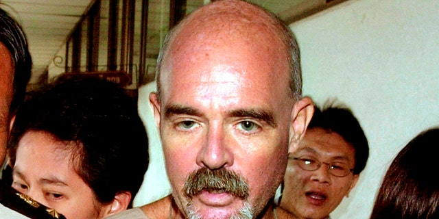 Eric Franklin Rosser after his extradition order was issued in Bangkok, Thailand, on Aug. 19, 2002.