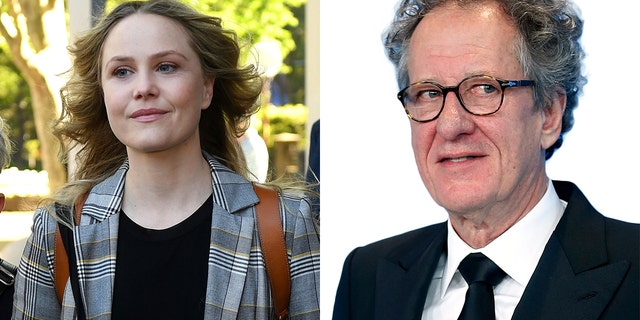 The actress Eryn Jean Norvill left the federal court in Sydney, Australia on Tuesday, October 30, 2018, after she had made evidence during her stay of slander launched by fellow Geoffrey Rush (right).
