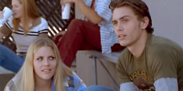 """Busy Phillipps and James Franco in a scene from the TV series """"Freaks and Geeks."""""""