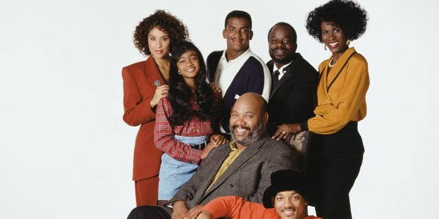 """""""The Fresh Prince of Bel-Air"""" alum Alfonso Ribeiro, center of top row, said a revival of the hit TV series would be impossible without Uncle Phil, played by the late actor James Avery."""