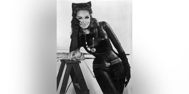 American actress Julie Newmar as Catwoman in a promotional portrait for the TV series 'Batman', circa 1966.