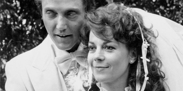 "Natalie Wood with her co-star Christopher Walken during filming of her last motion picture ""Brainstorm."""