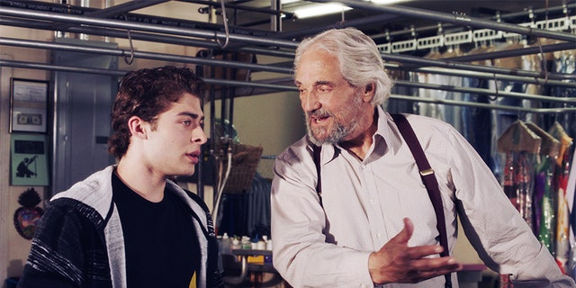 "Hal Linden (right) with Ryan Ochoa in ""The Samuel Project."""