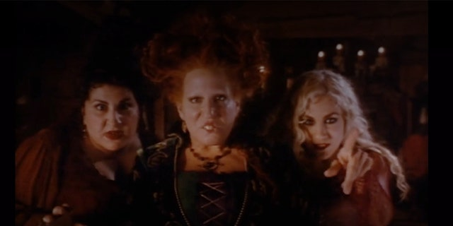 """Kathy Nahimy, Bette Midler and Sarah Jessica Parker in the 1993 Disney production """"Hocus Pocus."""""""