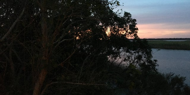 Sunset ahead of Hurricane Michael in Apalachicola, Fla.