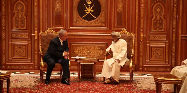 Netanyahu met with Oman's Sultan Qaboos bin Said during the surprise and rare visit to the majority Muslim nation.