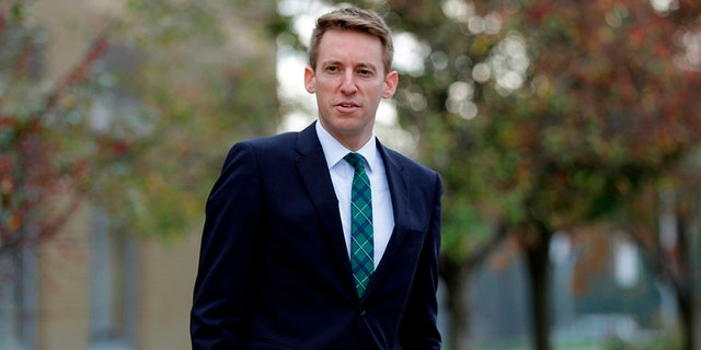 Jason Kander announced he is withdrawing from the Kansas City mayoral race to focus on getting treatment for his depression and PTSD. (AP Photo/Jeff Roberson)