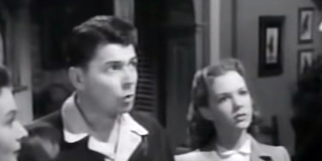 "Ronald Reagan and Piper Laurie (right) in 1950's ""Louisa."""
