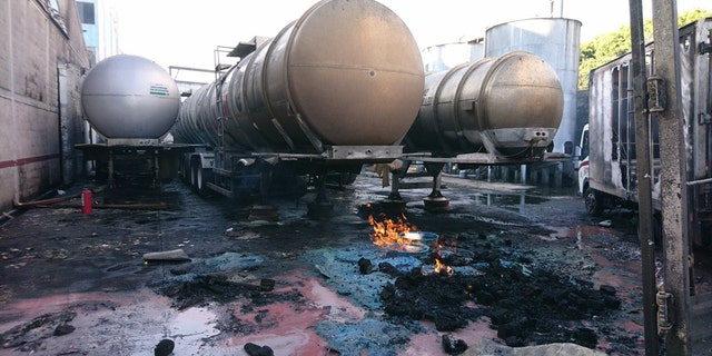 A tanker at a Mexico City alcohol factory exploded, leaving at least one injured.