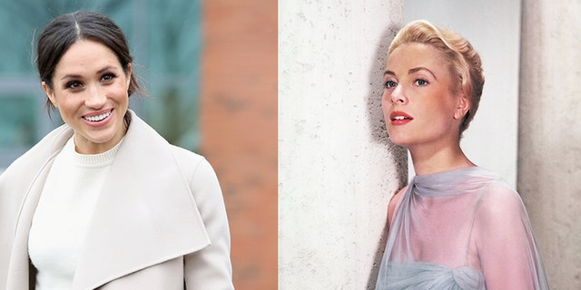 Grace Kelly's (right) nephew spoke to Fox News about what the American actress-turned-royal would have told Meghan Markle (left).