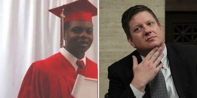 Laquan McDonald (left) was shot 16 times; Jason Van Dyke (right) was found guilty of second-degree murder and 16 counts of aggravated battery