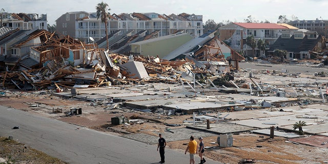 Rescue personnel in Mexico Beach, Fla., Thursday, a day after Hurricane Michael made landfall.