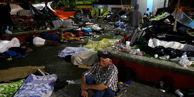 The caravan estimated to include more than 7,000 people