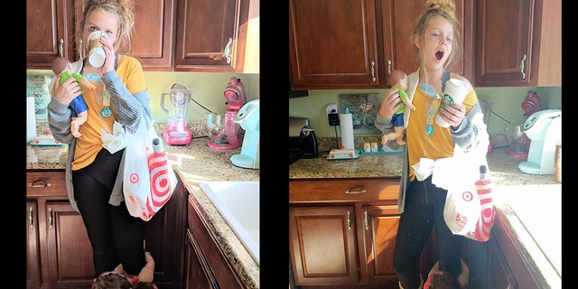 Her hilariously accurate costume is going viral on social media.