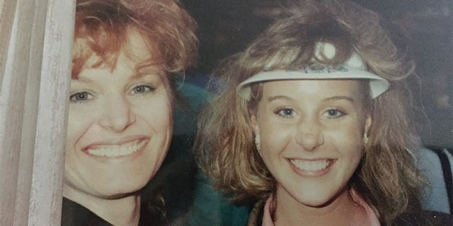 Michelle LeClair and her mom in 1986.
