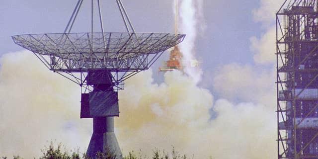 Apollo 7 launches on Oct. 11, 1968. (NASA)