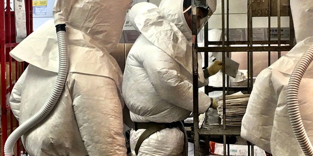 The Pentagon's mail screening facility intercepted two packages that initially tested positive for ricin.