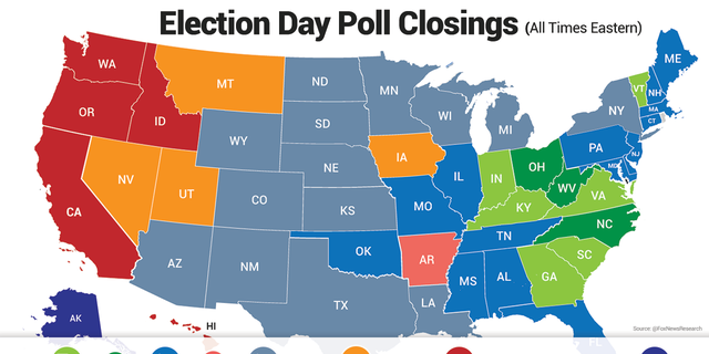 Polls are open in most states for at least 12 hours.