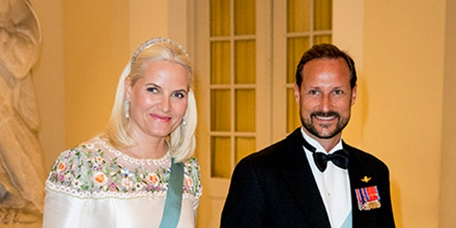 Crown Prince Haakon and Crown Princess Mette-Marit during the gala banquet on the occasion of the Crown Prince's 50th birthday at Christiansborg Palace Chapel on May 26, 2018 in Copenhagen, Denmark. (Photo by Patrick van Katwijk/Getty Images)
