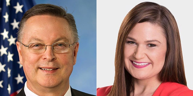 The race between Republican Rod Blum (left) and Abby Finkenauer (right) is ranked as leaning Democrat.