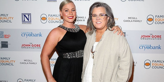 Elizabeth Rooney and Rosie O'Donnell attend Family Equality Council's 'Night At The Pier' at Pier 60 on May 7, 2018 in New York City.