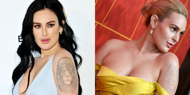 Rumer Willis, daughter of Bruce Willis and Demi Moore showcased one of her recently-removed tattoos on October 18, 2018 in Beverly Hills, Calif.