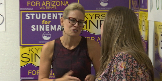 Rep. Sinema meeting with students at one of her Arizona Votes Early events.