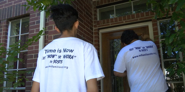 Canvassers are hitting neighborhoods throughout Houston, reminding residents to vote. Census data shows only 40% of Hispanics voted during the 2016 presidential election.