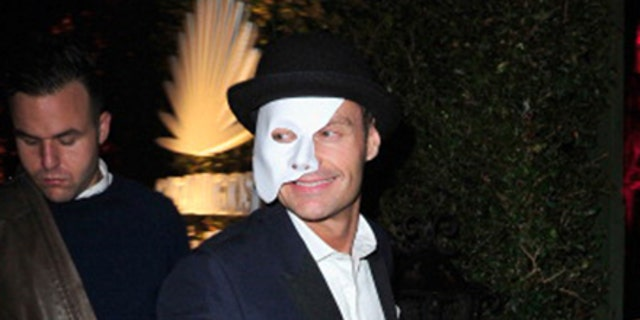 """Ryan Seacrest attended Casamigos' 2013 Halloween Party as"""" The Phantom of the Opera. """" (Photo by Jerod Harris / Getty Images)"""