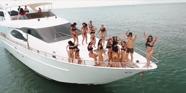 A guest says the raunchy festivities began as soon as he got on the yacht to the island.