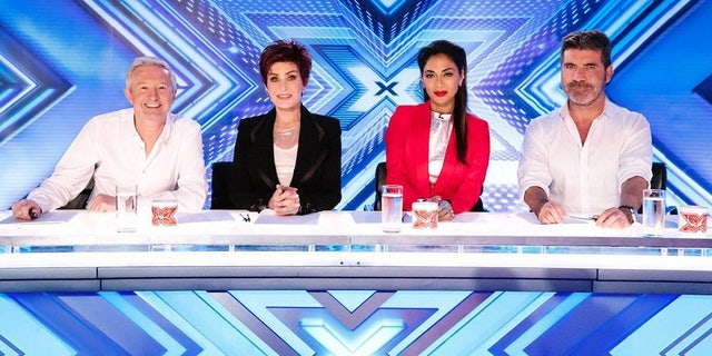 "Sharon Osbourne pictured here on the U.K. ""X Factor."""