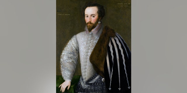 Portrait of Sir Walter Raleigh (1552-1618) - dated 16th Century.