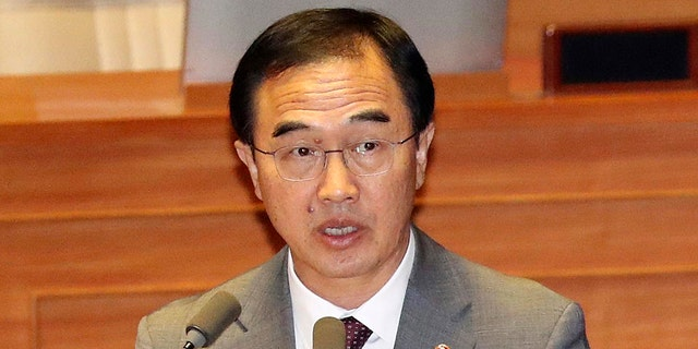 South Korean Unification Minister Cho Myoung-gyon told parliament the estimates on the size of North Korea's nuclear arsenal range from 20 bombs to as many as 60.