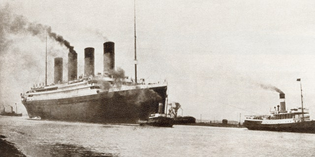 File photo - RMS Titanic passenger liner of the White Star Line. From The Story of 25 Eventful Years in Pictures, published 1935.