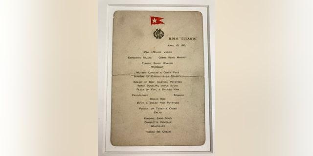The Titanic First Class menu (Henry Aldridge & Son)