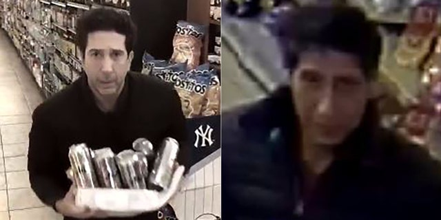 David Schwimmer posted a video of him making sure he wasn't implicated in a theft in Britain.