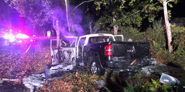 A good Samaritan who heard the crash got all three occupants of the vehicle out while the vehicle was on fire, one of the occupants suffered life-threatening injuries.