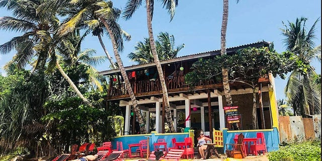 The couple opened the seven-bedroom B&B,named Lucky Beach Tangalle, in July.
