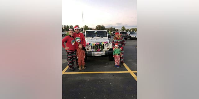 The celebrations also included a parade of vehicles decorated for the holiday season.