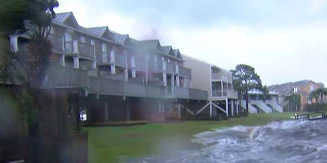 Parts of the Florida Panhandle could see between 9 and 13 feet of storm surge. Water was already rising in Alligator Point, Fla. on Wednesday ahead of Hurricane Michael's arrival.