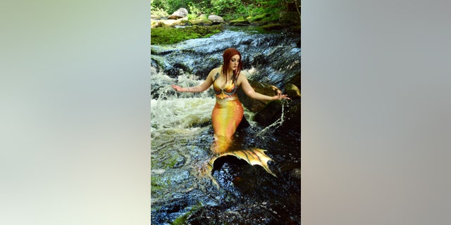 She first experimented with mermaiding in 2008, when chronic pain in her legs reached breaking point and she struggled to walk on land.