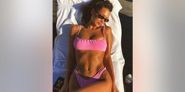 "Bella Hadid, who recently rang in her 22nd birthday, enjoyed a day in the sun in a bubblegum-pink bikini. ""Just a few more minutes of Vitamin D before the cold please,"" the model captioned her sexy pic."