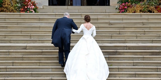 Princess Eugenie's dress was designed to show off her scar.